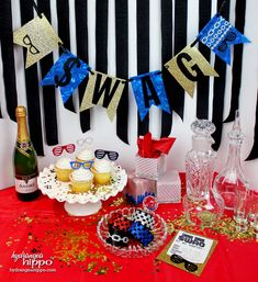 DIY Hip Hop Party SWAG Theme by Hydrangea Hippo - Vignette.  Featuring Sizzix…
