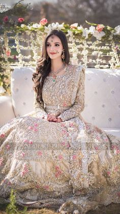 Exclusive Collection of Pakistani Bridal Dresses Online by Pakistani Designers to Buy for Pakistani Brides looking for a Traditional or Contemporary Bridal & Wedding Dresses. White Bridal Dresses, Asian Wedding Dress, Pakistani Wedding Outfits, Indian Bridal Outfits, Pakistani Bridal Dresses, Pakistani Wedding Dresses, Bridal Lehenga, Formal Dresses, Walima Dress