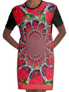 Caleidoscoop ontwerp Grafisch T-shirt Dress