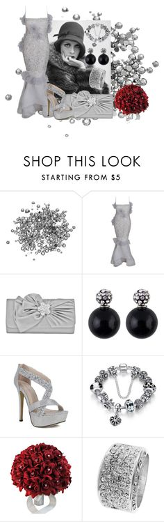 """grey rhinestones"" by aries-indonesia ❤ liked on Polyvore featuring Nina Ricci, Mundi and MICHELA"