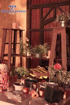 La mesa de dulces da un hermoso toque a toda la decoración de la #boda.