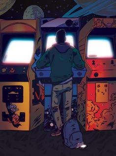 Illustrations, Illustration Art, New Retro Wave, Vintage Video Games, Vintage Games, Pop Art Wallpaper, Retro Videos, Gaming Wallpapers, Video Game Art