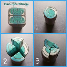 Fimo cane tutorial | (1)Create a jelly roll with whatever co… | Flickr