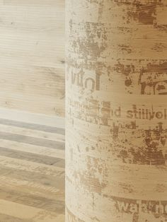Carving Grunge I brushed, white oiled I mafi Store I natural wood floors I mafi.com Natural Wood Flooring, Natural Structures, Curved Walls, Wood Surface, Mafia, Pillar Candles, Contemporary Design, Woods, Grunge