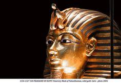 1336-1327 340 PHARAOHS OF EGYPT- Funerary Mask of Tutankhamun, solid gold. Cairo - photo 2004.   by Hans Ollermann