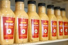 McDonald's has sold out of new bottled versions of their secret sauce, but here's how to make your own homemade Big Mac Special Sauce. Big Mac Special Sauce Recipe, Mcdonald's Big Mac Sauce Recipe, Sauce Recipes, New Recipes, Cooking Recipes, Favorite Recipes, Copycat Recipes, Cooking Sauces, Mcdonald's Secret Sauce
