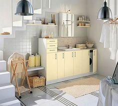 Una lavandería en casa, por favor me pueden mandar esta foto ampliada para saber las medias de muebles y diseño, para comprar, necesito verlo completo , esta divinoooo !!!!! , gracias magdalena