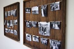 DIY picture hanging frames...