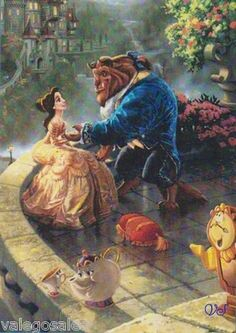 """Counted Cross Stitch Kit 5'' x 7""""  BEAUTY AND BEAST"""