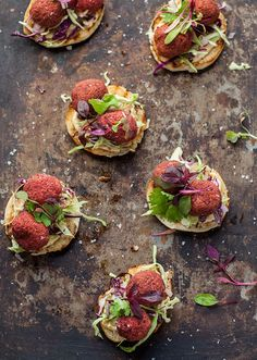 beetroot falafel on toasted pita