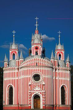 ☆Beautiful & Historical  Architecture * Chesme Church, St. Petersburg, Russia Petersburg Russia, Historical Architecture, San Francisco Ferry