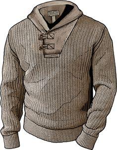 Duluth Trading Co. Men's Shawl collar sweater