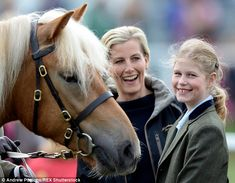 A devoted mother, Sophie laughs with her daughter Lady Louise, 11, at the Royal Windsor Horse Show