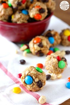 Peanut Butter Chocolate Trail Mix Bites from @akitchenaddict