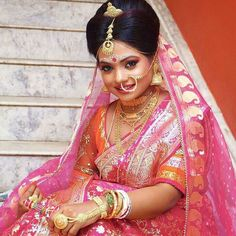 Sabyasachi Dresses Online on Happy Shappy. Browse great collection and images of beautiful and best Sabyasachi dress. Bengali Bridal Makeup, Bengali Wedding, Bengali Bride, Sabyasachi Dresses, Sabyasachi Bride, Princess Wedding, Wedding Bride, Malayali Bride, Bride Veil