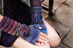 "Ravelry: ""Your Time To Shine"" Sequin Bow and Boho Flower Hat and Fingerless Glove Set pattern by Lauren Riker"