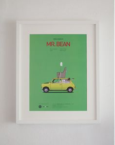 "Not sure which ""Famous Movie Car"" poster I like better - Mr. Bean or Little Miss Sunshine."