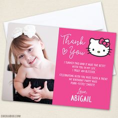 Free printable hello kitty invitation card marchesas hk theme hello kitty party photo thank you cards stopboris Gallery