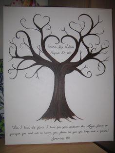 A Fingerprint tree I painted for my cousin to help celebrate her daughter's adoption finalization.