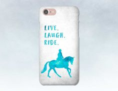 Horse Phone Case, iPhone 7 case, Dressage Horse, Samsung S7, iPhone 6, Samsung S6, iPhone 7 Plus, Gift for Horse Lover, Blue Aqua
