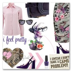 """Go Camo"" by eula-eldridge-tolliver ❤ liked on Polyvore featuring New Look, Michael Kors, OPI and Karen Walker"