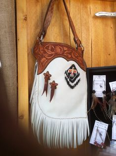A very unique purse. Designed like a small set of chaps. Measures approx 8 x 14 with one inside pocket. Fully handcrafted here in my shop. Leather Art, Leather Tooling, Leather Purses, Leather Handbags, Tooled Leather, Western Purses, Unique Purses, Boho Bags, Leather Pattern
