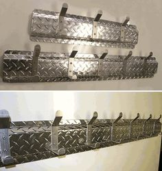 Diamond Plate Brushed Coat Hanger