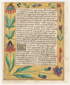 Illuminated Manuscripts This leaf is from northern