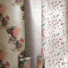 Luxury Wallcoverings and Print Design Print Design, Curtains, Shower, Pearls, Wallpaper, Luxury, Prints, Studio, Street