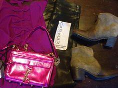 NEW BLOG POST: Millau Bow Tank Top, CARMAR Denim Black Wax High Waisted Jeans, Rebecca Minkoff Mini M.A.C. Bag, Mystique Boots
