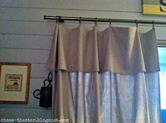 Drop cloth curtains! Just fold down the top to create a faux valance!