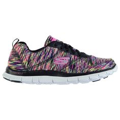 Head over to our online store to see the wide range of ladies trainers that we have available including the Skechers Flex Appeal Whirl Wind Trainers! Skechers, Trainers, Footwear, Lady, Shoes, Fashion, Tennis, Moda, Zapatos