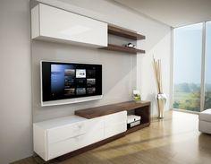 centros de entretenimiento - Buscar con Google Tv Cabinet Design, Tv Wall Design, Tv Unit Design, House Design, Living Room Tv, Living Room Modern, Tv Wanddekor, Tv Unit Furniture, Modern Tv Wall Units