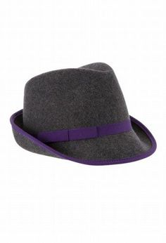 ad648ca757ca3 Women s fedora hat with pretty purple band Trilby Hat