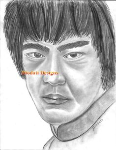 Bruce Lee Charcoal Drawing - Digital Download
