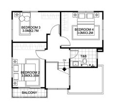 House Design Plans With 4 Bedrooms - Modern Architecture Bungalow Floor Plans, Modern Bungalow House, Home Design Floor Plans, 2 Story House Design, Simple House Design, Floor Plan 4 Bedroom, 4 Bedroom House Plans, Philippines House Design, Two Storey House Plans