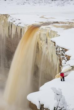 Photographer on the Falls - Hay River, Northwest Territories, Canada