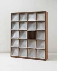 View Bookcase, model no. designed for the University library, Chandigarh by Pierre Jeanneret sold at Design on 12 December 2012 New York. Pierre Jeanneret, Chandigarh, Bookcase, Search, Design, Home Decor, Decoration Home, Room Decor, Searching