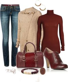 """Oxblood"" by tchantx ❤ liked on Polyvore"