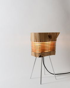 Bring The Outdoors In With These Gorgeous Lamps Made From Real Firewood