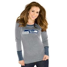 Touch by Alyssa Milano Seattle Seahawks Ladies Quick Pass Thermal - Ash