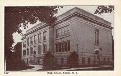 Suffern NY Rockland Co High School Building Scene Postcard N Y #Collectible
