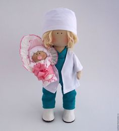 Felt Crafts, Art Dolls, Doll Clothes, Sewing, Crochet, Fabric, Handmade, Activity Toys, White Peacock