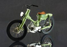 Custom Moped, Honda Cub, Cafe Bike, Classy Cars, Mini Bike, Bobber, Cars And Motorcycles, Motorbikes, Vehicles