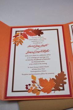 fall wedding invitations best photos Pinterest Autumn Leaves
