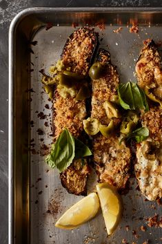 NYT Cooking: In this highly zesty recipe, thick slices of zucchini are broiled until golden and tender, then topped with milky mozzarella and bread crumbs flecked with anchovy and garlic. While it bakes, the cheese melts, the crumbs crisp and the whole thing becomes vaguely reminiscent of a lighter parmigiana — but without the frying. If you're feeding more than two, this recipe can be doubled. Just make su...