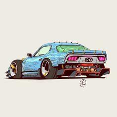 Synthwave car by Fernando Correa Cool Car Drawings, Car Illustration, Cyberpunk Art, Futuristic Cars, Car Sketch, Automotive Art, Car Wallpapers, Pretty Art, Art Cars