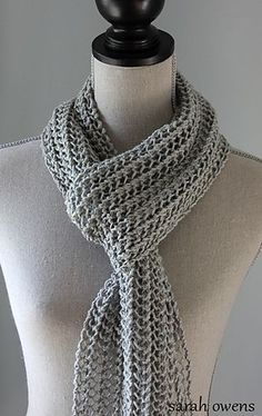 Free Knitting Pattern for Light and Breezy Scarf