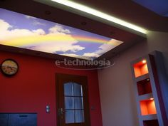 LED lighting in the bedroom - bedroom decor - lighting for the bedroom - LED strip in the bedroom - stretch ceiling in the bedroom - the inspiration for the bedroom www.e-technologia.pl