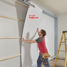 garage storage wall pegboard